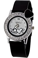 Addic Analogue White Dial Women's Watch-AddicLoveBlack