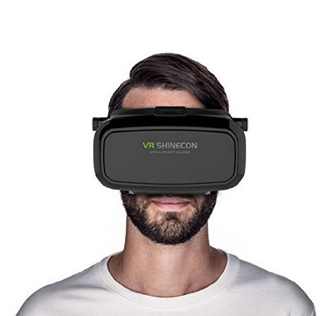 Ecoastal 2016 3D VR Virtual Reality Glasses Headset for iPhone Samsung LG Sony HTC Xiaomi ZTE Smartphones within 6 Inch, ideal for 3D Movies Games