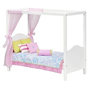 Our generation my sweet canopy bed includes for Pillow back bed frame
