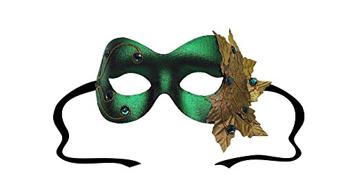 Poison Ivy Green Women's Masquerade Mask