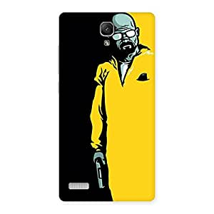 Ajay Enterprises Extant Yellow Standing Man Back Case Cover for Redmi Note Prime