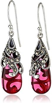 Sterling Silver Marcasite Earrings