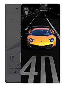 """Humor Gang Super Car Sports Love Printed Designer Mobile Back Cover For """"Sony Xperia Z5"""" (3D, Matte, Premium Quality Snap On Case)"""