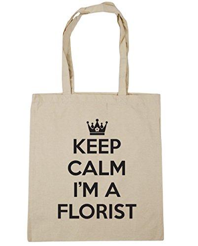 hippowarehouse-keep-calm-im-a-florist-tote-shopping-gym-beach-bag-42cm-x38cm-10-litres