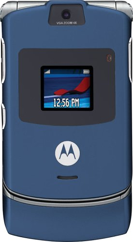 Motorola RAZR V3 Unlocked Cell Phone with Video Player--U.S. Version with Warranty (Blue)