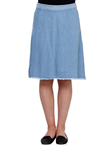 Oxolloxo Women denim trendy skirt