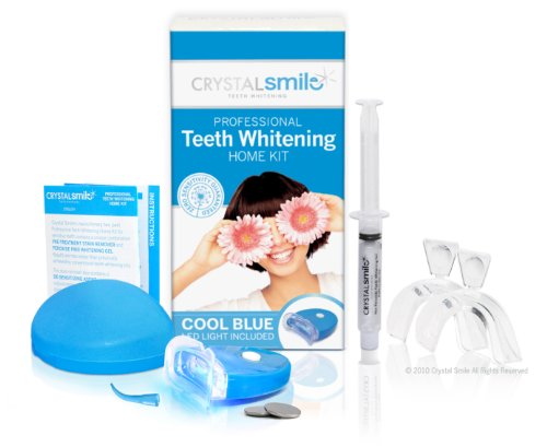 Crystal Smile Advanced Lite Teeth Whitening Home Kit. Professional High Grade Peroxide Gel - All Products Made In The U.S.A