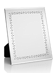 "Scattered Gem Embellished Mirrored Photo Frame 20 x 25cm (8 x 10"")"