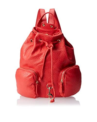 Nila Anthony Women's Mixed Metal Cap Backpack, Red