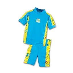 Sun Protective 2 Piece Swimwear - Yellow/Blue: 2/3 T