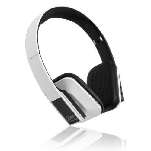Revjams Xec On Ear Hd Wireless Bluetooth Stereo Headphones With In-Line Microphone, White