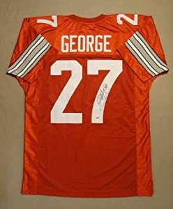 Eddie George Signed Jersey - PSA DNA Certified - Autographed College Jerseys by Sports+Memorabilia