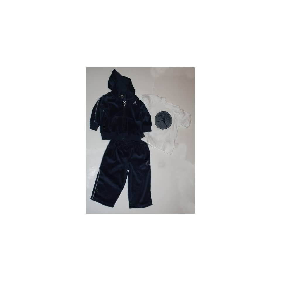 6c92d118af7f7c Nike Jordan Jumpman23 Infant 3 Piece Sweatsuit Jacket Pant T Shirt ...