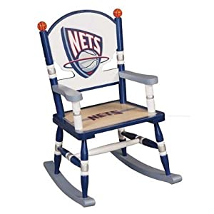 New Jersey Nets Rocking Chair by GuideCraft