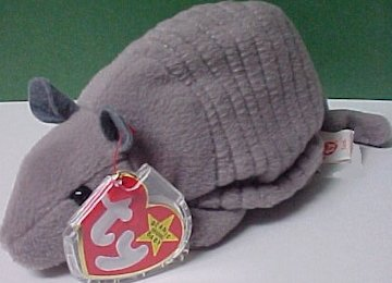 TY Beanie Baby - TANK the Armadillo (4th Gen hang tag) [Toy] - 1