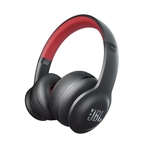 JBL【国内正規品】EVEREST ELITE 300 ワイヤレスヘッドホン Bluetooth ノイズキャンセリング 密閉ダイナミック型オンイヤー ブラック/レッド V300NXTREDGP