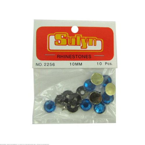 24 Blue rhinestones; pack of 10