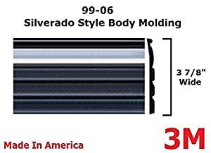 1999-2006 Chevy Silverado Chrome/Black Side Body Trim Molding Pickup