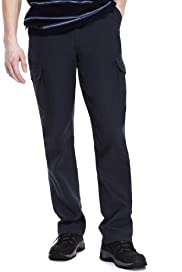 Utility Pure Cotton Flat Front Regular Fit Cargo Trousers [T17-6020M-S]