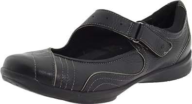 Clarks Women's Wave.Pearling Slip-On,Black Leather,9 N US
