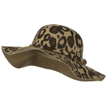 animal print wool felt hat brown at s