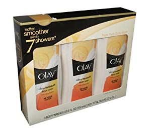 Olay Ultra Moisture Body Wash with SHEA BUTTER 24hr Moisture 3 PACK 23.6 OZ TOTAL 70.8 FL OZ