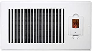 Vent-Miser 91668 Programmable Energy Saving Vent, 12-by-6-Inches, White