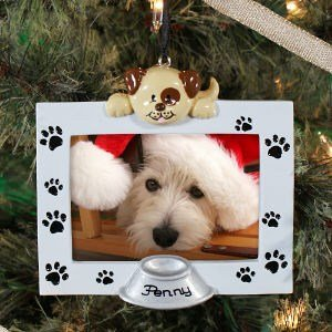 Personalized Dog Frame Christmas Ornament
