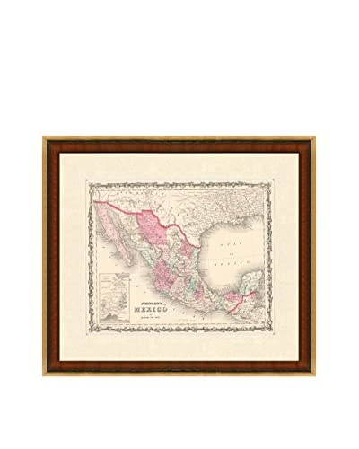 Antique Map of Mexico, 1860-1863