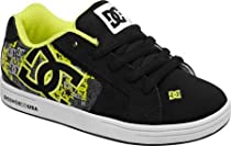 DC Footwear Kids Net SE Sneaker (Todlder/Little Kid/Big Kid),Black/Yellow,6 M US Big Kid