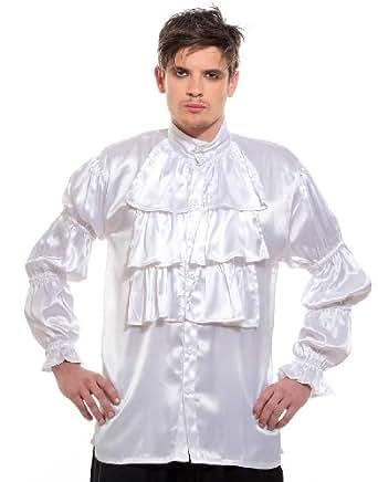 Frilly Ruffled Seinfeld Pirate Costume Shirt (Small)