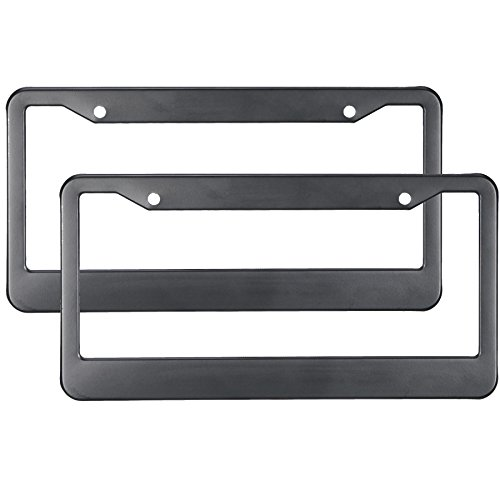Orion Motor Tech Aluminum License Plate Frame with Screw Caps (Matte Black - 2 Piece) (Vet Tech License Plate Frame compare prices)