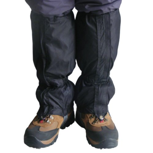 Breathable Waterproof Walking Gators Boot Hiking Climbing Leggings Trekking Gaiters Black