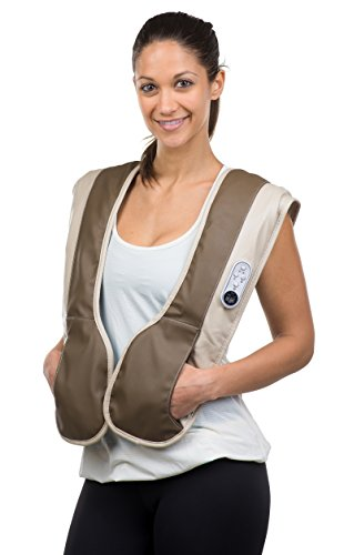 Gideon™ Portable Vest Massager for Back, Neck and Shoulder with Heat Therapy / Massage, Relax, Sooth and Relieve Neck, Shoulder and Back Pain