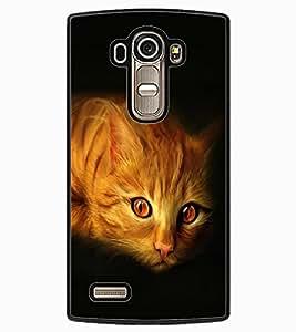 ColourCraft Cat Look Design Back Case Cover for LG G4