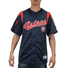 MLB Houston Astros Mens Dri Fit Button Down Baseball Shirt by MLB