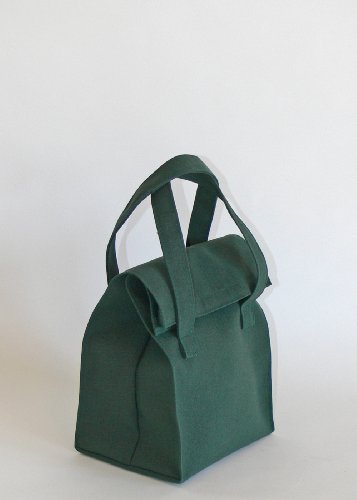 Lunch Packer - Soft Lunch Bag+ Cotton Napkin; Made From Recycled Plastic Bottles - Made In Usa front-60650