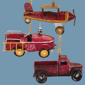 Vintage Sparkling Pick-Up Truck Christmas Ornament