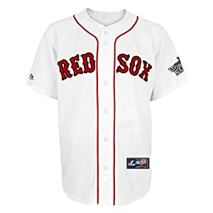 MLB Boston Red Sox Dustin Pedroia Mens 15 World Series Patch Jersey by Majestic