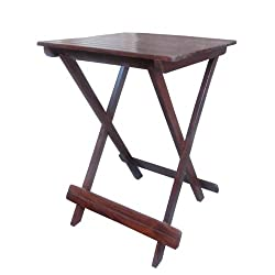 Induscraft Portable Table Solid Sheesham Wood Folding Table