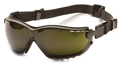 Pyramex V2G Safety Glasses, Black Frame/5.0 IR Filter Lens