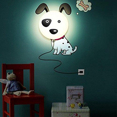 Eonkoo Cute Dog DIY Home Room Decor Wallpaper Wall Sticker Night Light Lamp
