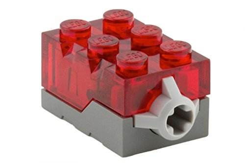 Lego Parts: Electric, Light Brick 2 x 3 x 1 1/3 Red LED Light (Trans Red)