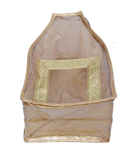 66554ead8230 Cheap Price Kuber Industries Blouse Cover In Designer Golden Brocade ...