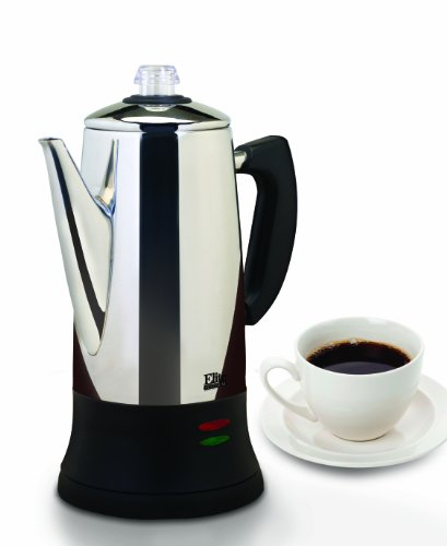 MaxiMatic EC-120 Elite Platinum 12-Cup Percolator, Stainless Steel