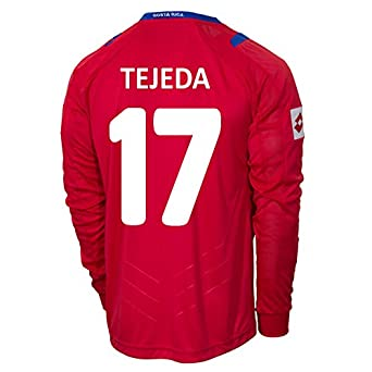 Buy Lotto TEJEDA #17 Costa Rica Home Jersey World Cup 2014 (Long Sleeve) by Lotto