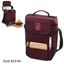 Stanford Cardinal Duet Insulated Wine and Cheese Tote - Burgundy w/Digital Print