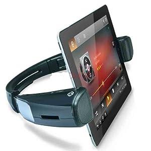 ワイヤレススピーカー機能内蔵 タブレットスタンド 「WizSpander」 Black