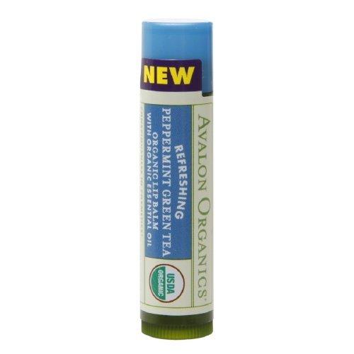 new-avalon-organics-refreshing-lip-balm-peppermint-green-tea-015-oz-42-g-by-avalon