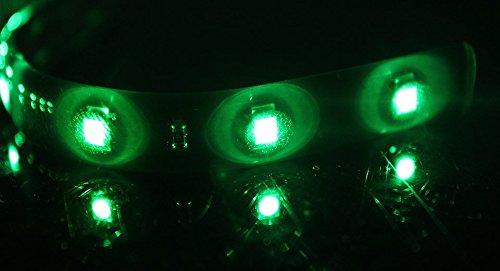 R10 Green Led Waterproof Ribbon Light Strip For Car & Home-Green / 15-Led / 30Cm/1Ft - Useful Gadget (Premium Quality)